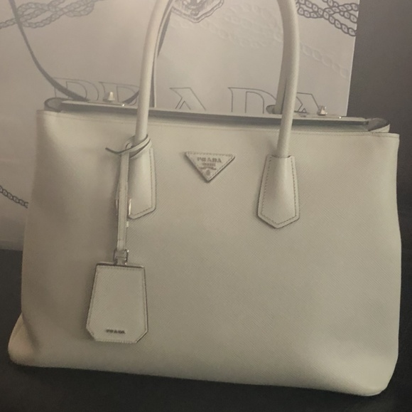 59ad5a321c38 Prada Bags | Galleria Bag White With Locks On Top | Poshmark